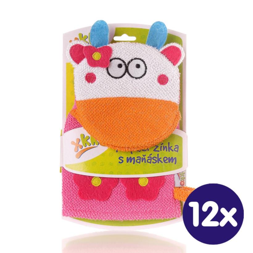 XKKO Waschlappemit Handpuppe (BA) - Cow 12x1St. (GH Packung)