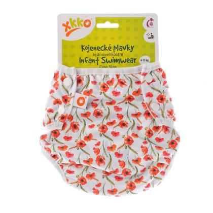 Baby-Badeslip XKKO One Size - Red Poppies
