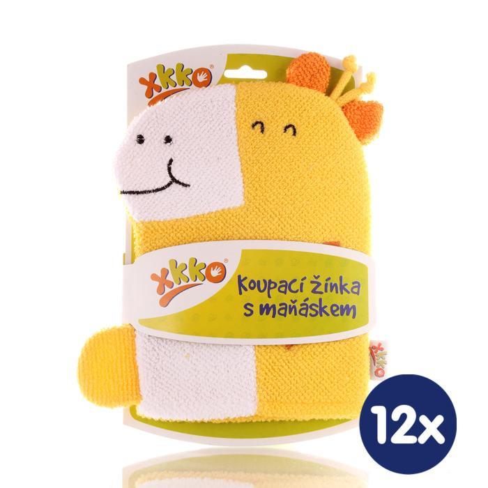 XKKO Waschlappemit Handpuppe (BA) - Giraffe 12x1St. (GH Packung)