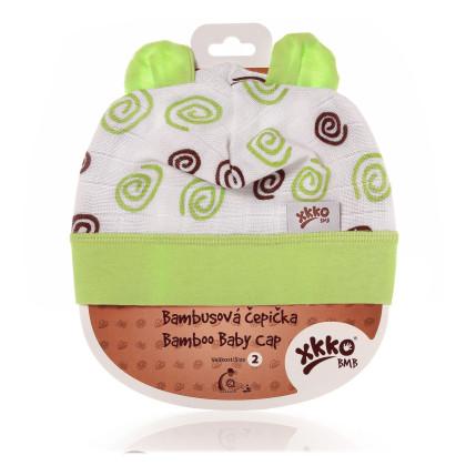 XKKO BMB Kindermütze - Lime Spirals