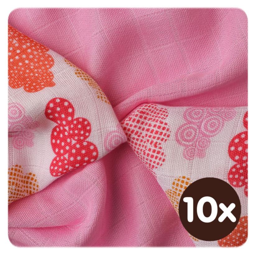 XKKO BMB Bambuswindeln 30x30 - Heaven for Girls MIX 10x9er Pack (GH packung)