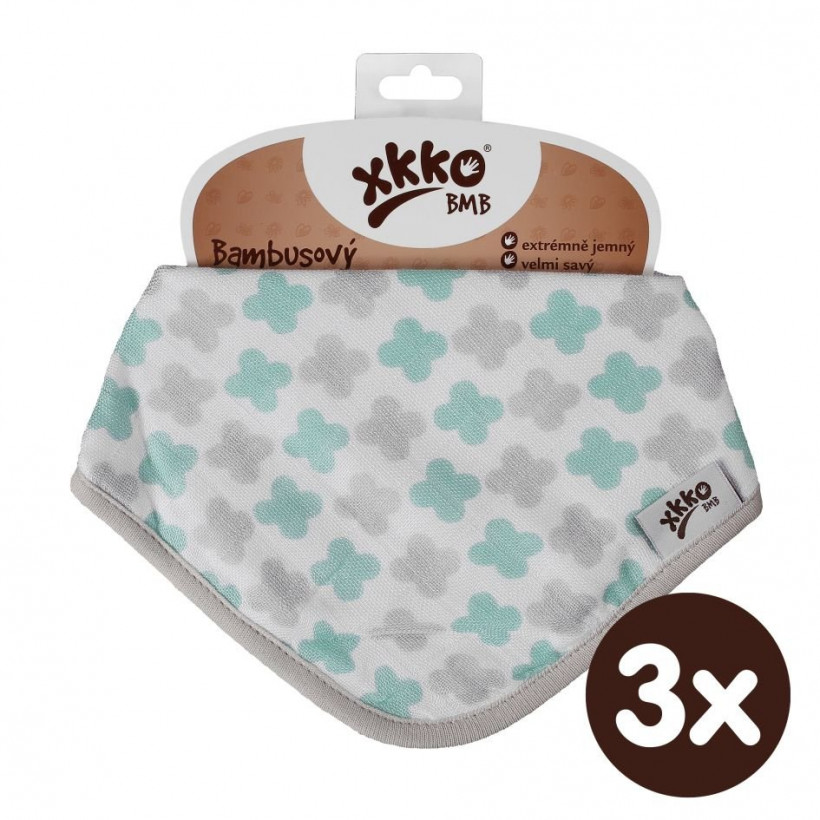 Kinderschal XKKO BMB - Scandinavian Mint Cross 3x1 St. (GH packung)