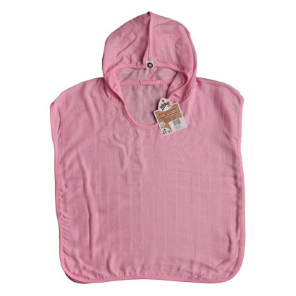 Bambus-Poncho XKKO BMB - Baby Pink