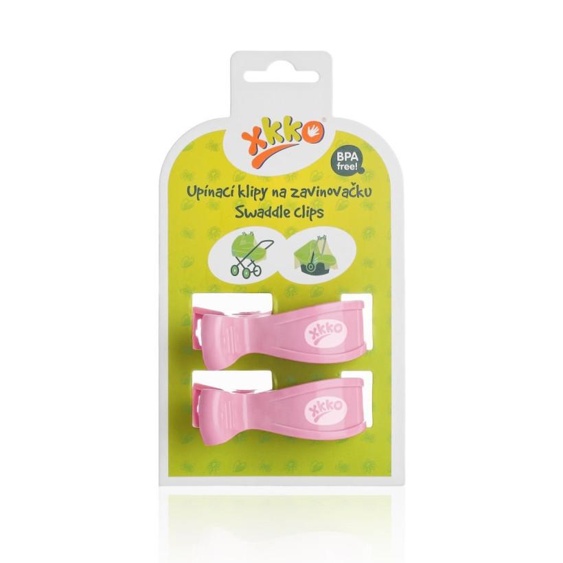 XKKO Klammer an Kinderwagen -  Baby Pink 2 St.