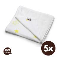 XKKO BMB Bambusdecke 130x70 - Lemon Stars 5x1St. (GH Packung)