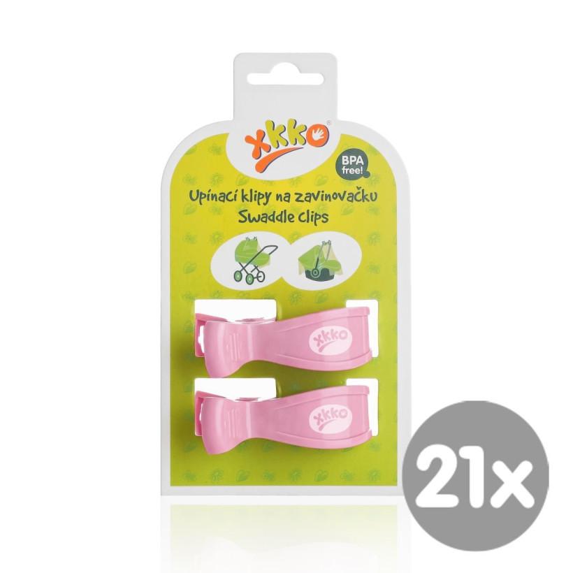 XKKO Klammer an Kinderwagen -  Baby Pink 21x2 St. (GH Packung)