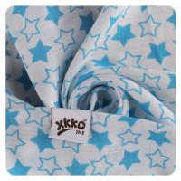XKKO BMB  Windeltücher 90x100 - Little Stars Cyan 10x1St.(GH packung)