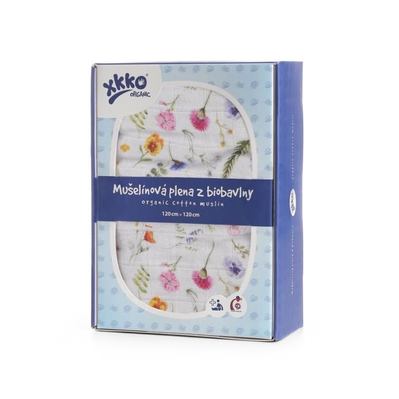 XKKO Organic Bio-Baumwolle Windel 120x120 - Summer Meadow 1St.