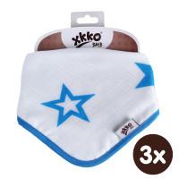 Kinderschal XKKO BMB - Cyan Stars 3x1 St. (GH packung)