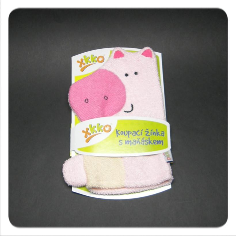 XKKO Waschlappemit Handpuppe (BA) - Pig 12x1St. (GH Packung)