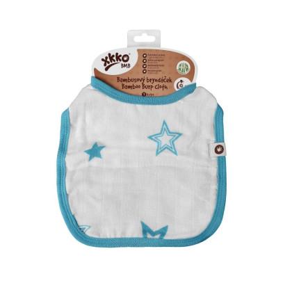 XKKO BMB Kinderlätzchen - Cyan Stars