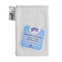 BIO baumwollefrotteewaschlappen XKKO Organic - Weiss 5x1St. (GH pack.)
