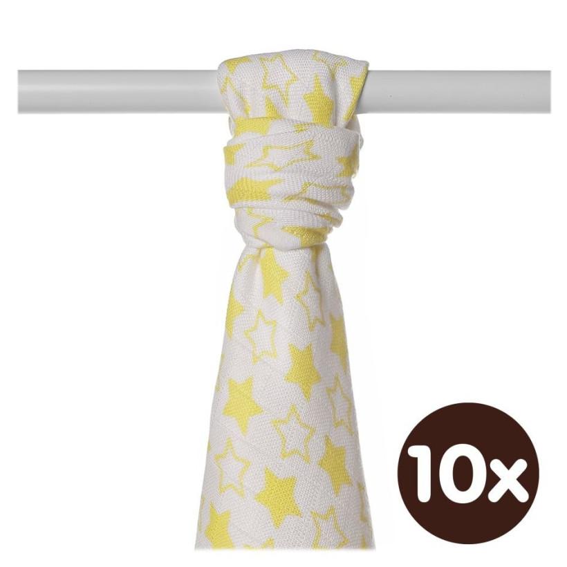 XKKO BMB  Windeltücher 90x100 - Little Stars Lemon 10x1St.(GH packung)