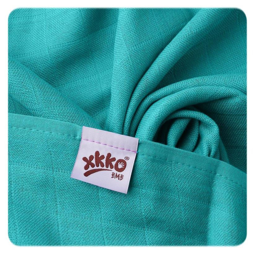 XKKO BMB Musselin Bambuswindeln 70x70 -  Tyrkys 3er Pack