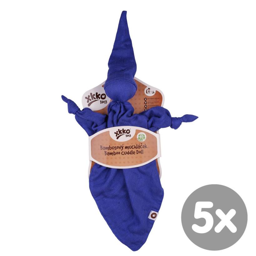 XKKO BMB Bambus-Schnuffeltuch - Ocean Blue 5x1St. (GH Packung)