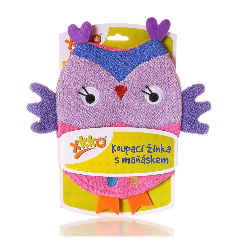 XKKO Waschlappemit Handpuppe (BA) - Owl 12x1St. (GH Packung)