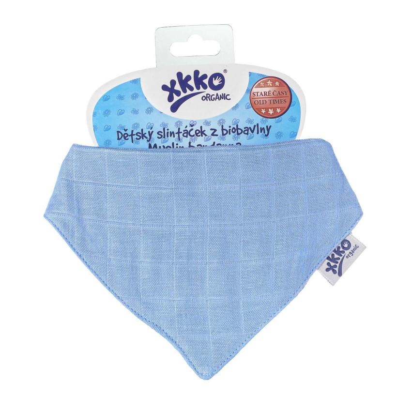 Kinderschal XKKO Organic Old Times - Ocean Blue 1St.