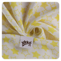 XKKO BMB Musselin Bambuswindeln 70x70 - Little Stars Lemon MIX 3er Pack