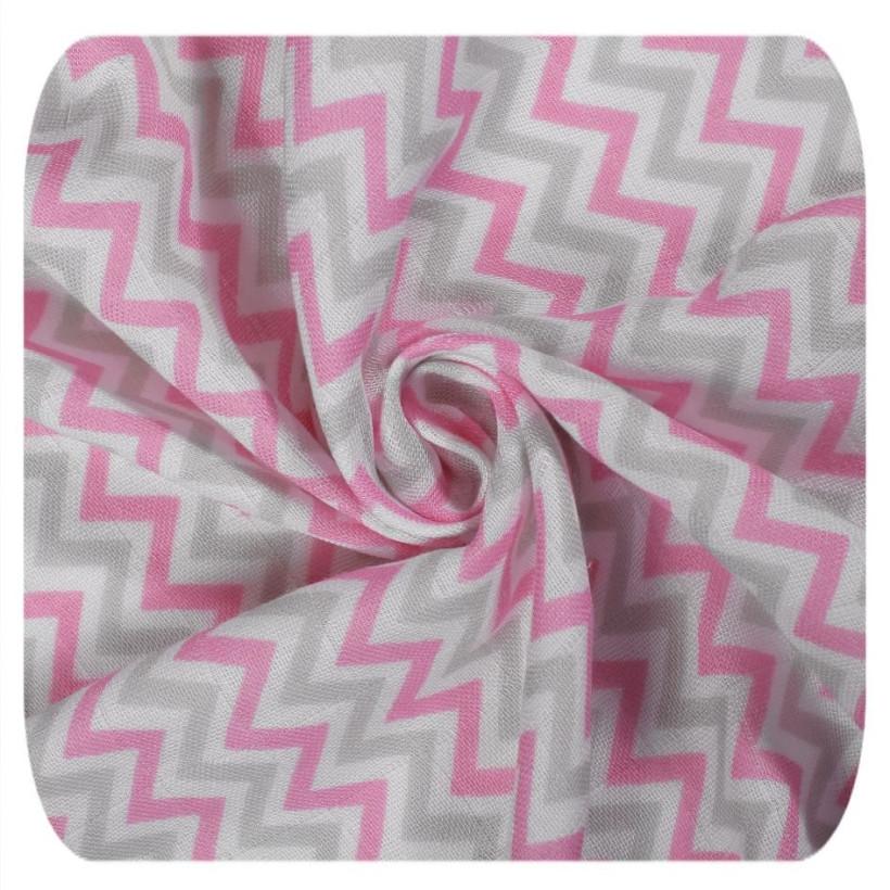 XKKO BMB Musselin Bambuswindeln 70x70 - Scandinavian Baby Pink MIX 3er Pack