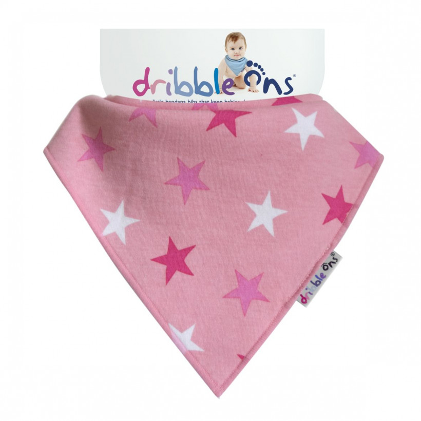 Dribble Ons Designer - Pink Stars 3x1St. (GH Packung)