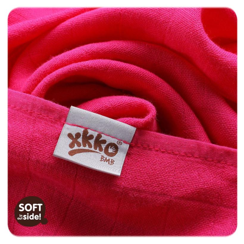 XKKO BMB Musselin Bambuswindeln 70x70 - Magenta Choco MIX 3er Pack