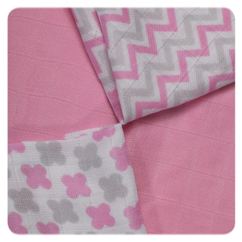 XKKO BMB Bambuswindeln 30x30 - Scandinavian Baby Pink MIX 9er Pack