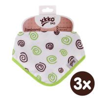 Kinderschal XKKO BMB - Lime Spirals 3x1 St. (GH packung)