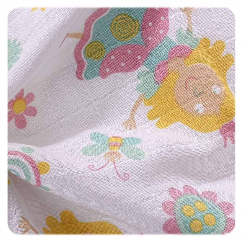 Baumwollwindeln XKKO LUX 80x80 - For Girls 3er Pack