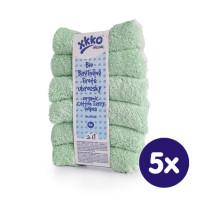 BIO baumwollefrotteetücher XKKO Organic 21x21 - Mint 5x6er Pack (GH pack.)