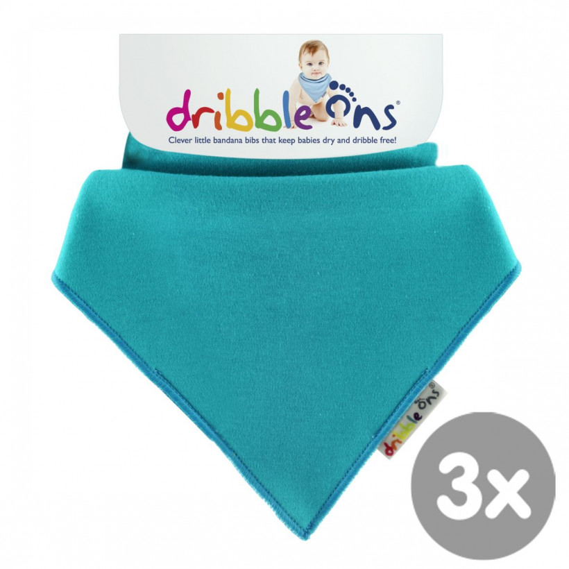 Dribble Ons Bright - Turquoise 3x1St. (GH Packung)