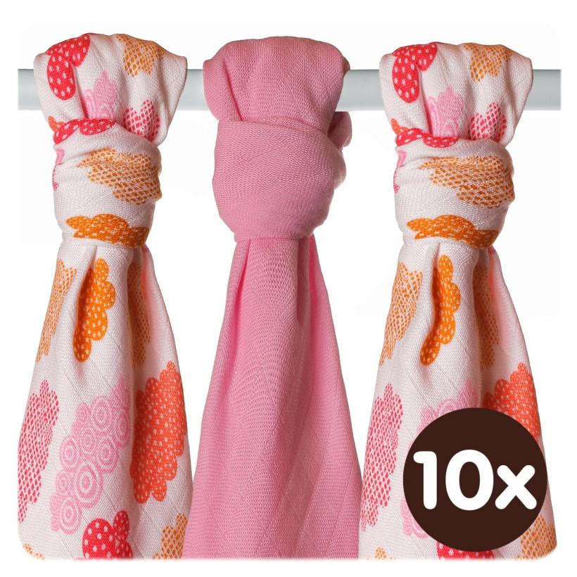 XKKO BMB Musselin Bambuswindeln 70x70 - Heaven For Girls MIX 10x3er Pack (GH packung)