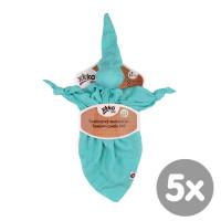 XKKO BMB Bambus-Schnuffeltuch - Turquoise 5x1St. (GH Packung)