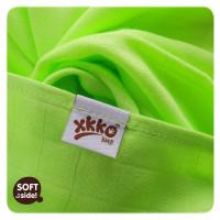 XKKO BMB Musselin Bambuswindeln 70x70 - Lime 3er Pack