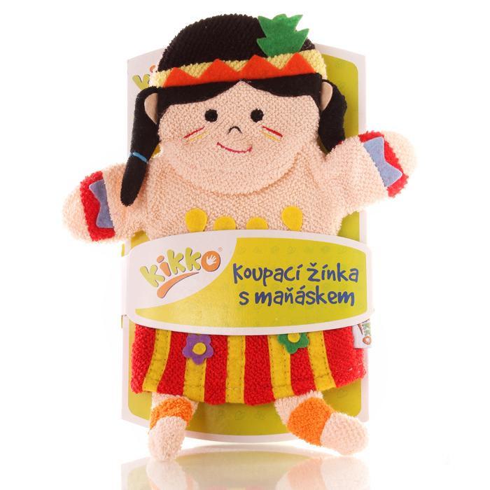 XKKO Waschlappemit Handpuppe (BA) - Indian Girl 12x1St. (GH Packung)