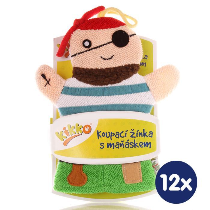 XKKO Waschlappemit Handpuppe (BA) - Pirate 12x1St. (GH Packung)