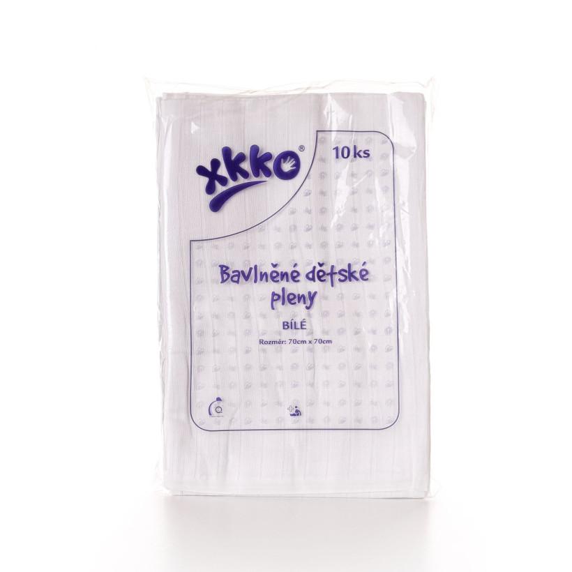 Baumwollwindeln XKKO Classic 70x70 - White 10er Pack