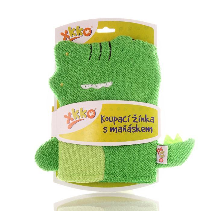 XKKO Waschlappemit Handpuppe (BA) - Crocodille 12x1St. (GH Packung)