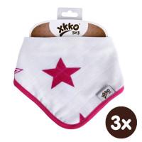 Kinderschal XKKO BMB - Magenta Stars 3x1 St. (GH packung)
